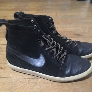 Nike leather and suede high tops